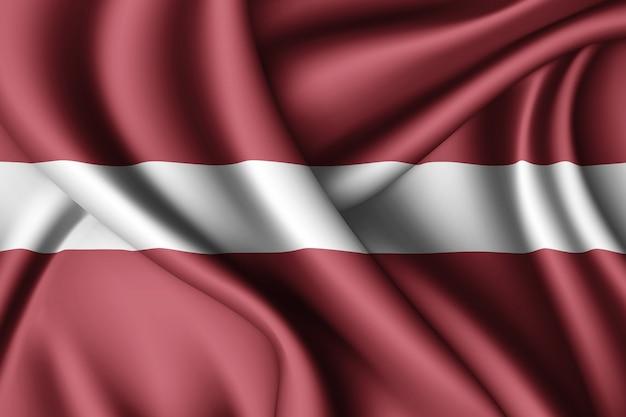 Machać flaga łotwy