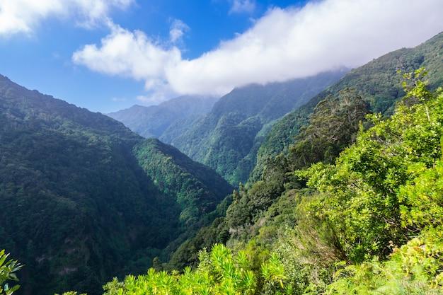 Madery wyspy piękny krajobraz górski, portugalia