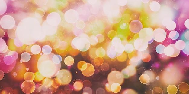 Magiczne tło z kolorowym świątecznym tłem z naturalnym bokeh i jasnymi złotymi światłami. archiwalne magiczne tło