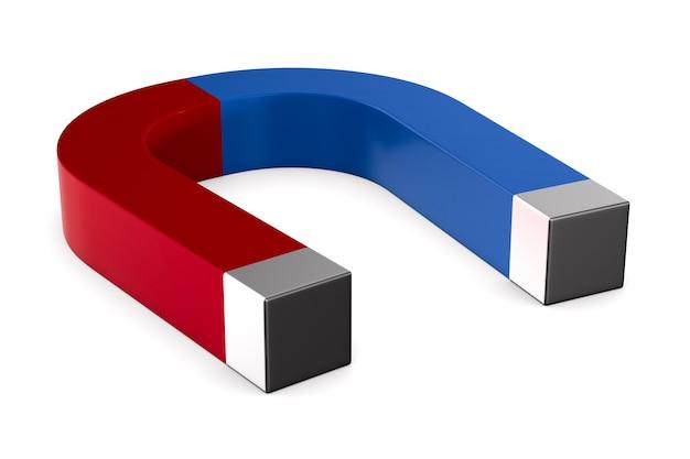Magnes na białym tle. izolowana ilustracja 3d