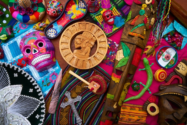 Majów meksykańska handcrafts pamiątka wymieszać