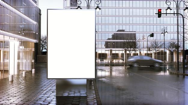 Makieta billboard na centrum miasta