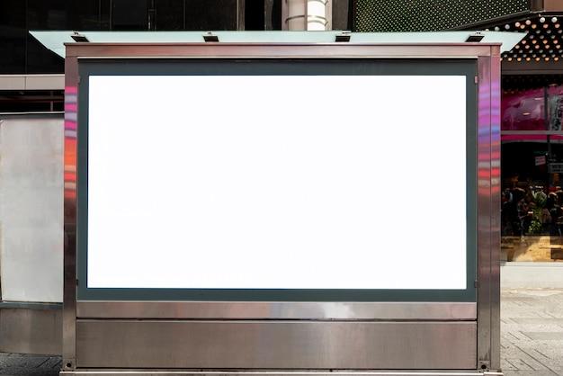 Makieta billboard na chodniku