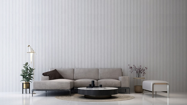 Makieta dekoracji wnętrz sypialni i ściany betonowej