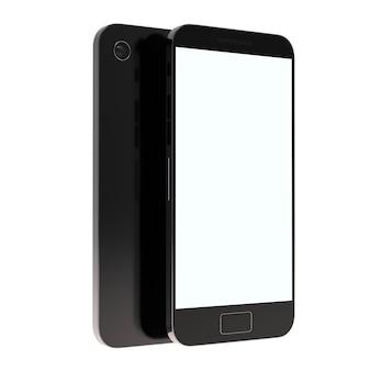 Makieta ekranu telefon komórkowy renderowanie 3d telefon komórkowy izolowany szablon produktu ui i ux