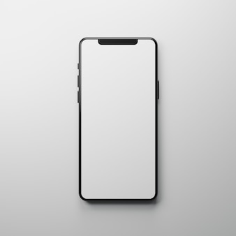 Makieta inteligentnego telefonu z podświetleniem do promocji produktu