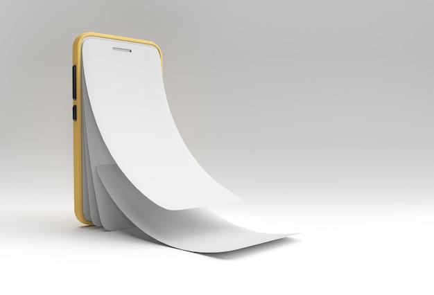 Makieta inteligentnego telefonu z wymianą pustego ekranu screen protector glass rendering 3d.