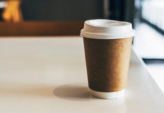 Makieta jednorazowej filiżanki kawy