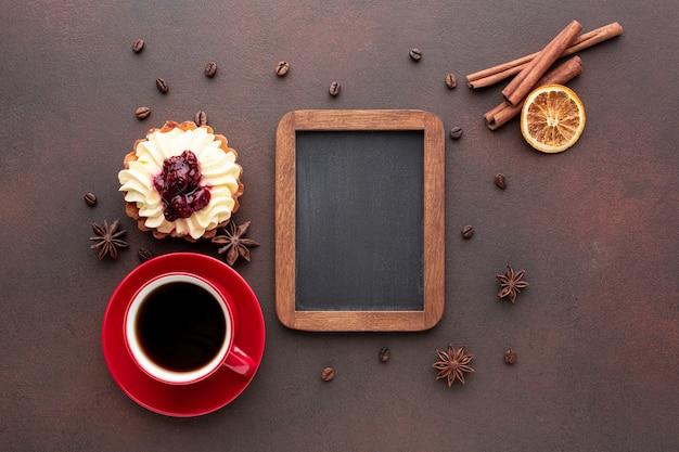 Makieta kadru z kawą