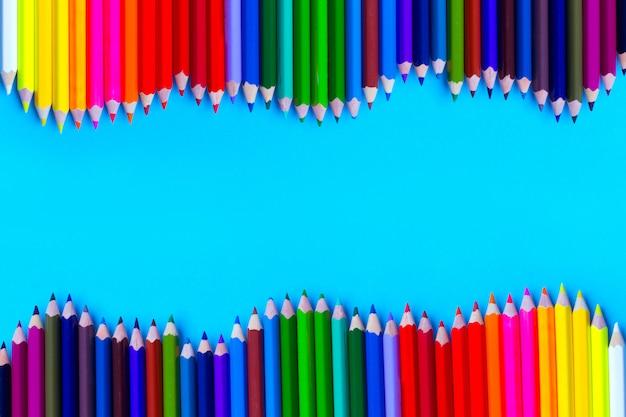 Makieta kolorowych ołówków