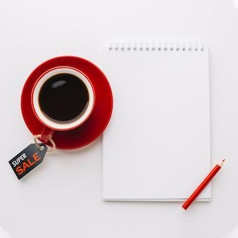 Makieta notesu sprzedażowego czarny piątek