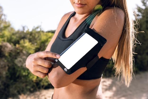 Makieta opaski na telefon z boku