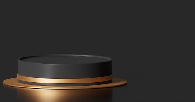 Makieta podium do prezentacji produktu abstrakcyjna minimalna koncepcja