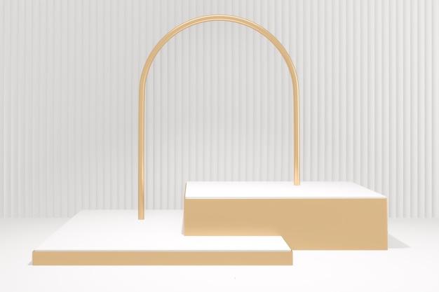 Makieta podium w minimalistycznym designie. renderowanie 3d