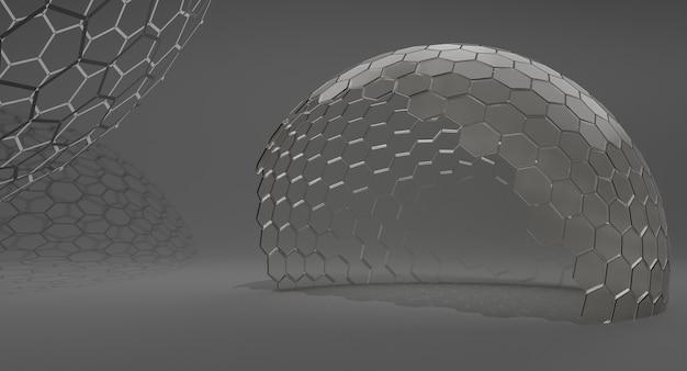 Makieta przezroczystej szklanej kopuły