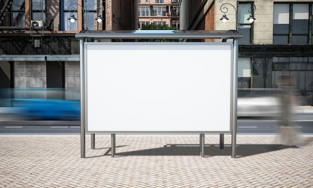 Makieta przystanek reklamy ulicy
