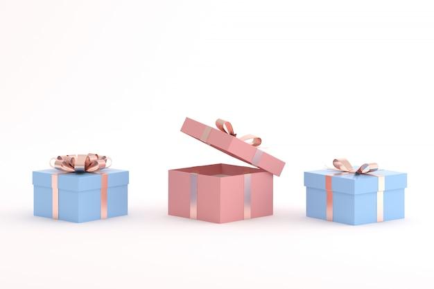 Makieta pudełka prezentowego w minimalistycznym stylu.