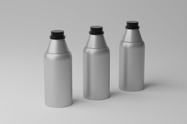 Makieta pustych butelek