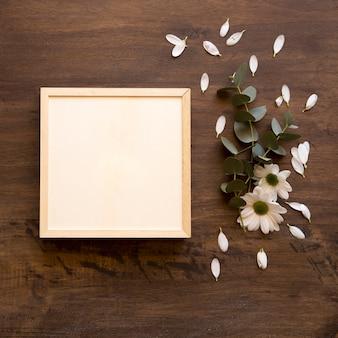 Makieta ramka z kwiatami