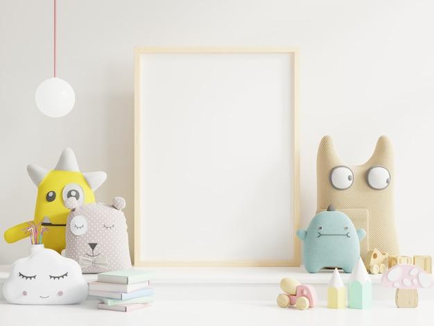 Makieta ramki plakatowej w pokoju dziecka