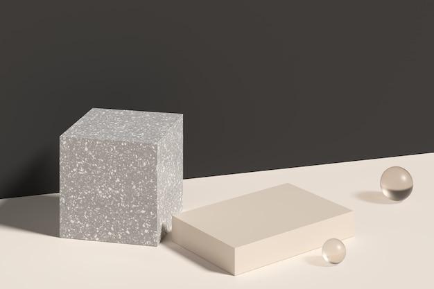 Makieta sceny dla produktu wyświetlającego. renderowanie 3d