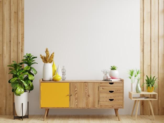 Makieta szafki w nowoczesnym pustym pokoju