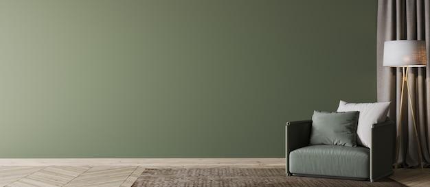Makieta szkieletowa drewniana lampa podłogowa mock up. zielony nowożytny wewnętrzny tło, biały żywy pokój, skandynawa styl, 3d odpłaca się, 3d ilustracja