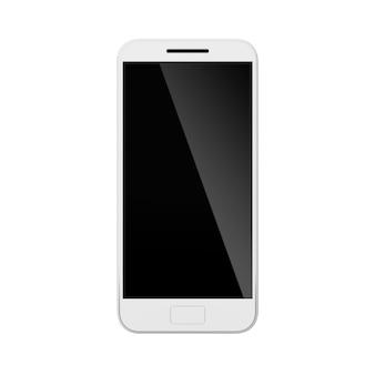 Makieta telefonu komórkowego smartfon z podświetleniem na ekranie ilustracja nowoczesnego urządzenia komunikacyjnego