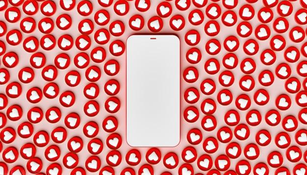 Makieta telefonu komórkowego z wieloma podobnymi ikonami wokół niego