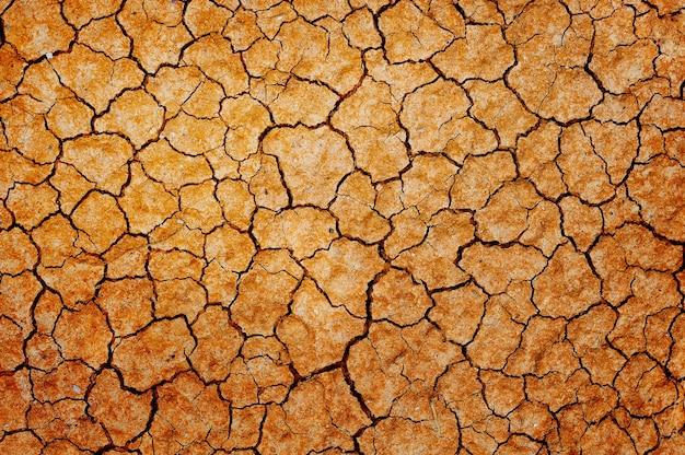 Makieta zbliżenie tła suchej pękniętej ziemi