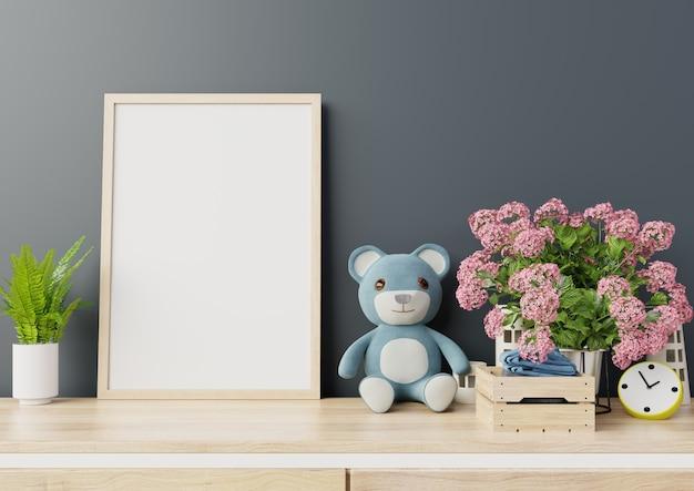 Makiety plakatów w pokoju dziecięcym