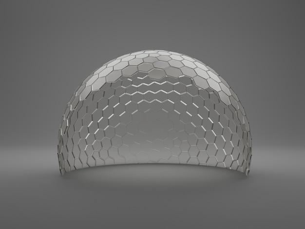 Makiety przezroczystej szklanej kopuły. koncepcja
