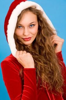 Makijaż newyear panna czerwony portret