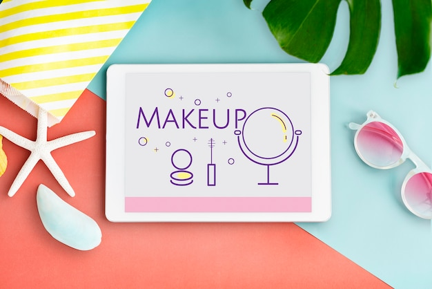 Makijaż uroda kosmetyki glamour dekoracyjne