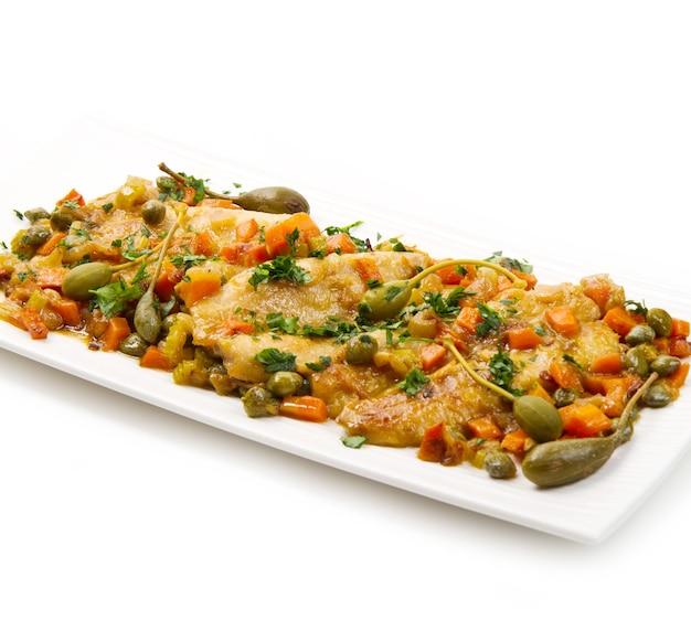 Makrele z warzywami
