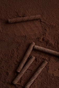 Makro bułki czekoladowe w proszku pokryte