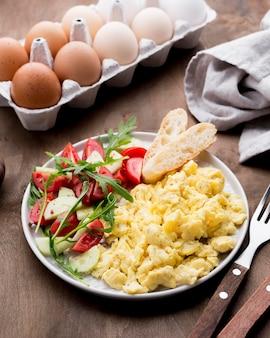 Makro jajecznica z miejsca kopiowania