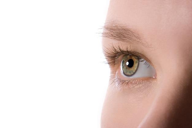 Makro ludzkie oko piękna