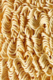 Makro makaron błyskawicznytekstura makaronu błyskawicznego z bliskajapońskie jedzenieclo