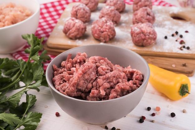 Makro mielone mięso i klopsiki