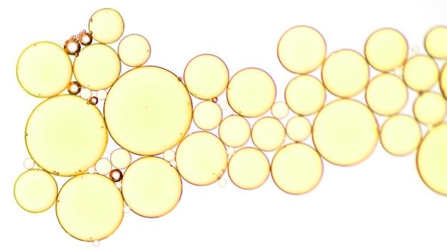 Makro napoju złote bąbelki