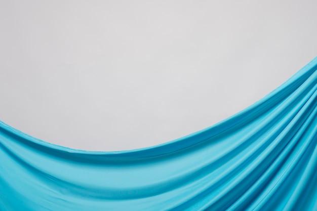 Makro pomarszczony niebieski materiał