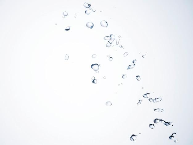 Makro przezroczyste krople cieczy