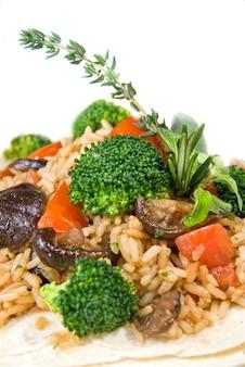 Makro risotto z warzywami