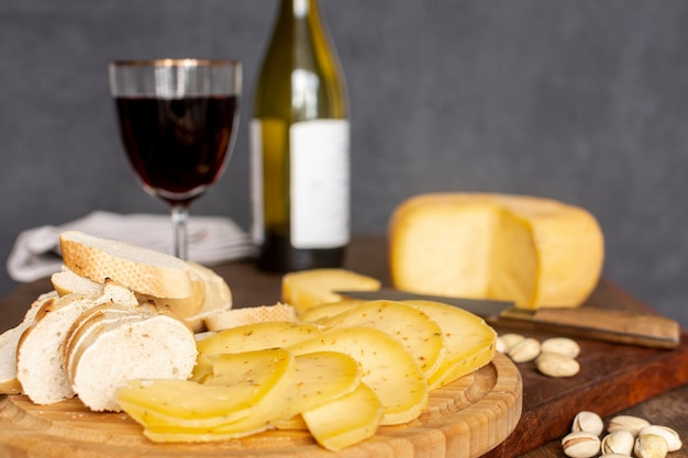 Makro smaczne plastry sera