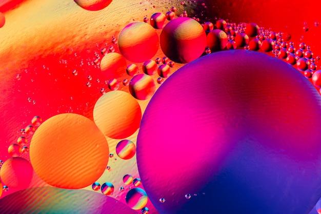 Makro strzału powietrza lub cząsteczki
