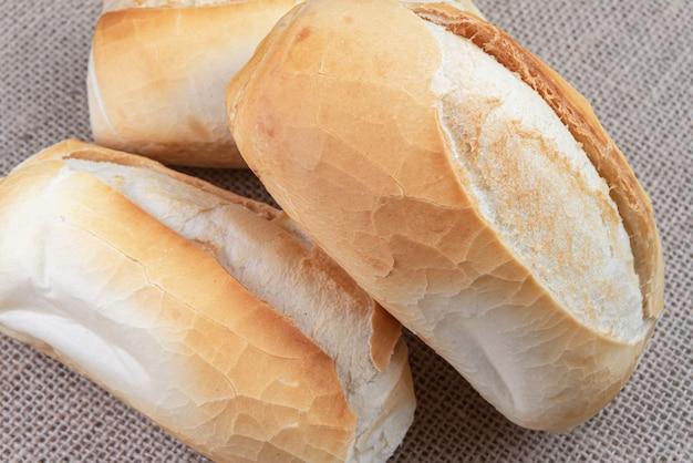Makro szczegóły francuskiego chleba