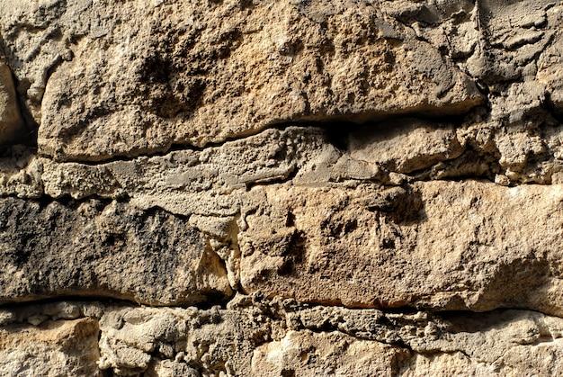 Makro tekstury kamiennej ściany