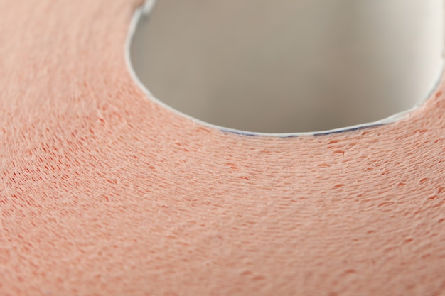 Makro tekstury papieru toaletowego