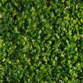 Makro tekstury tła zielony szczypiorek.